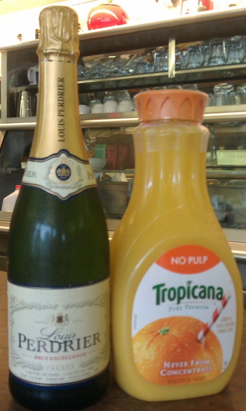 Louis Perdrier Champagne and Tropicana OJ