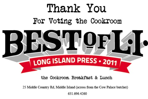 Best Breakfast on Long Island the Cookroom Flyer